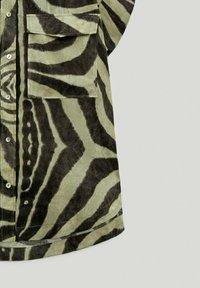 Massimo Dutti - Button-down blouse - khaki - 5