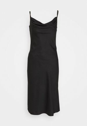 CLOSET COWL NECK SLIP DRESS - Pouzdrové šaty - black