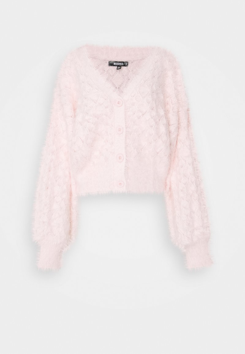 Missguided - POINTELLE CARDI - Cardigan - pink