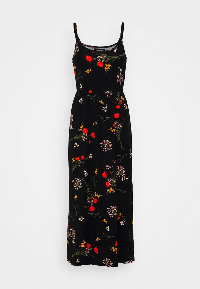 Jersey dress - black/multi-coloured