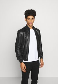 Emporio Armani - CABAN PELLE - Leather jacket - nero - 0