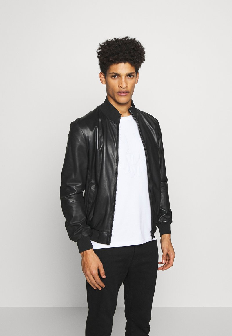 Emporio Armani - CABAN PELLE - Leather jacket - nero