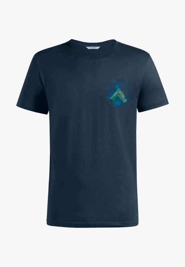 Print T-shirt - dark sea
