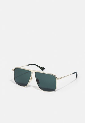 Sunglasses - gold-coloured/gold-coloured/green