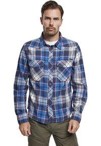 Brandit - HERREN CHECKSHIRT - Shirt - navy - 0