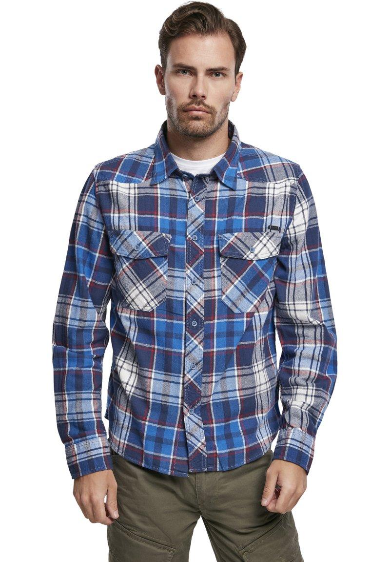 Brandit - HERREN CHECKSHIRT - Shirt - navy