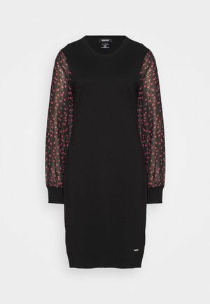 Shift dress - black/black/rudolph red/powder pink/multi