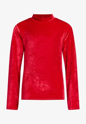 Long sleeved top - saffron red