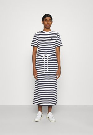Jersey dress - navy blue/flour