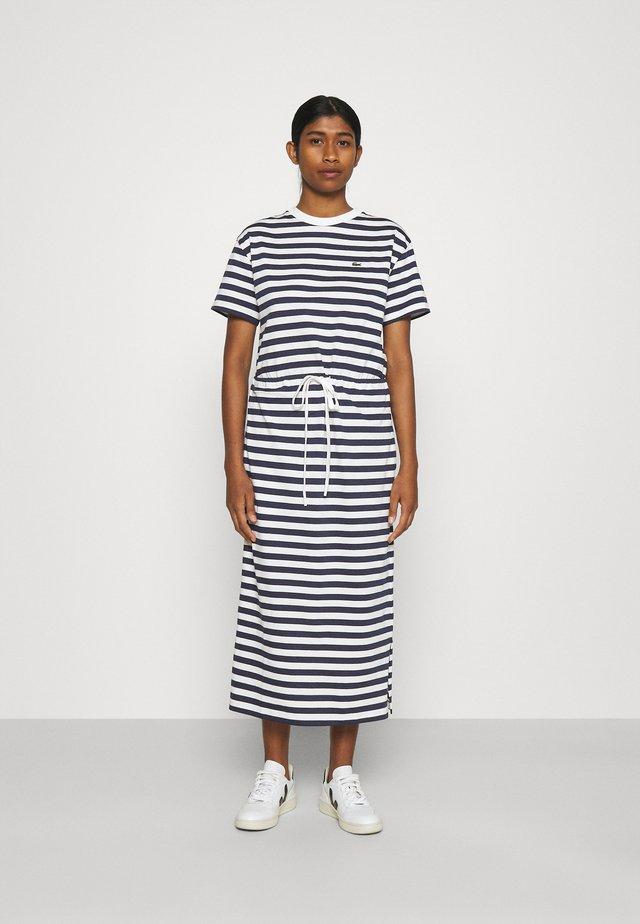 Sukienka z dżerseju - navy blue/flour
