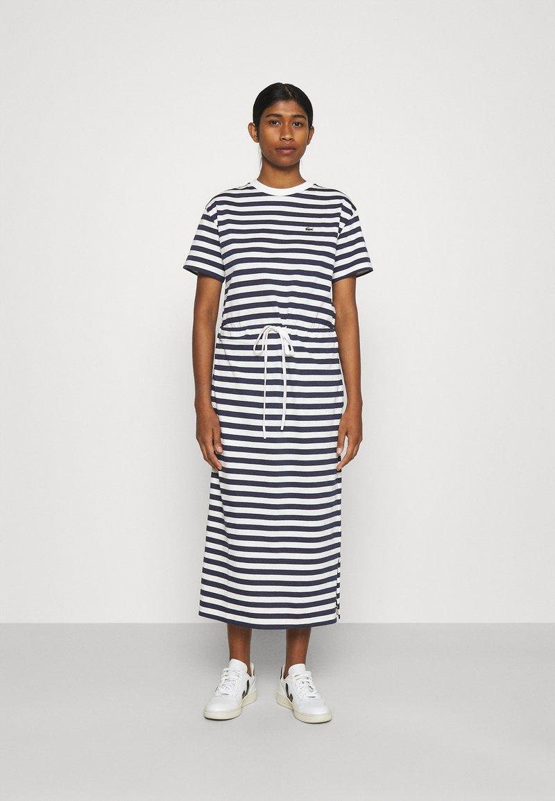 Lacoste - Jersey dress - navy blue/flour