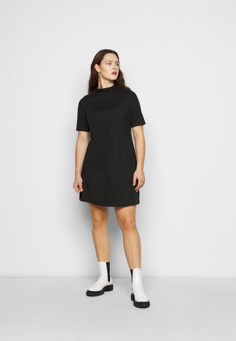 Simply Be - HIGH NECK SWING DRESS - Day dress - black