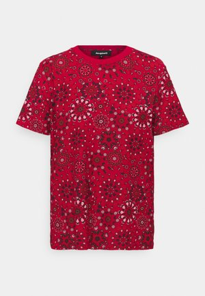LYON - Print T-shirt - red
