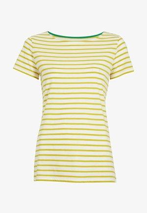 Print T-shirt - naturweiß/schwefelgelb