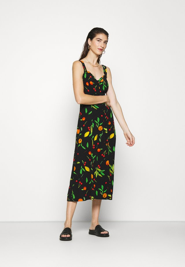 FRUIT PRINT FRILL CUPPED DRESS - Vapaa-ajan mekko - multi