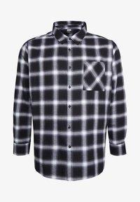 Urban Classics - OVERSIZED CHECK - Camicia - black/white - 4