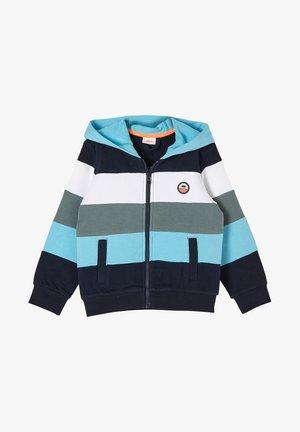 Zip-up hoodie - dark blue stripes