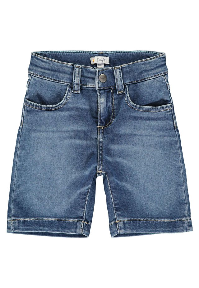 STEIFF COLLECTION BERMUDAS MIT TEDDYBÄRMOTIV - Denim shorts - ensign blue
