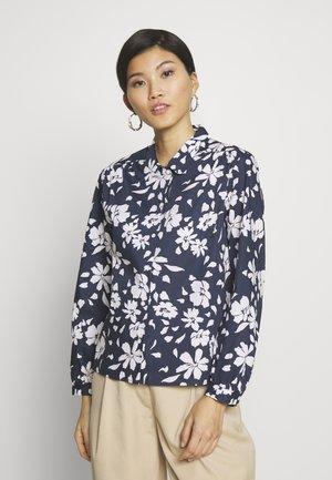 FASHION LANG - Button-down blouse - navy blazer