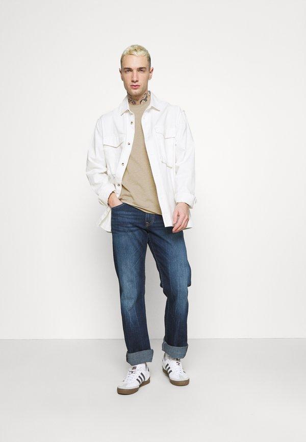 AllSaints TONIC CREW - T-shirt basic - pewter grey marl/szary Odzież Męska YJGH