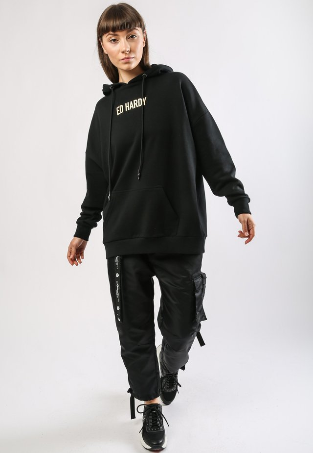 TIGER-MOUNTAIN POUCH HOODY - Hoodie - black