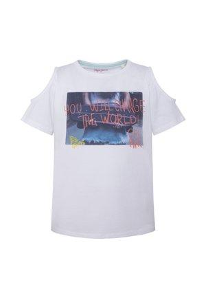 BETTY - Camiseta estampada - optic weiss