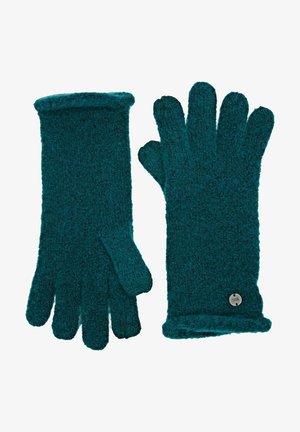 Gloves - emerald green