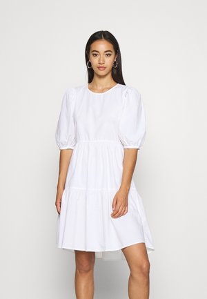 ONLKARLA PUFF SHORT DRESS  - Day dress - white
