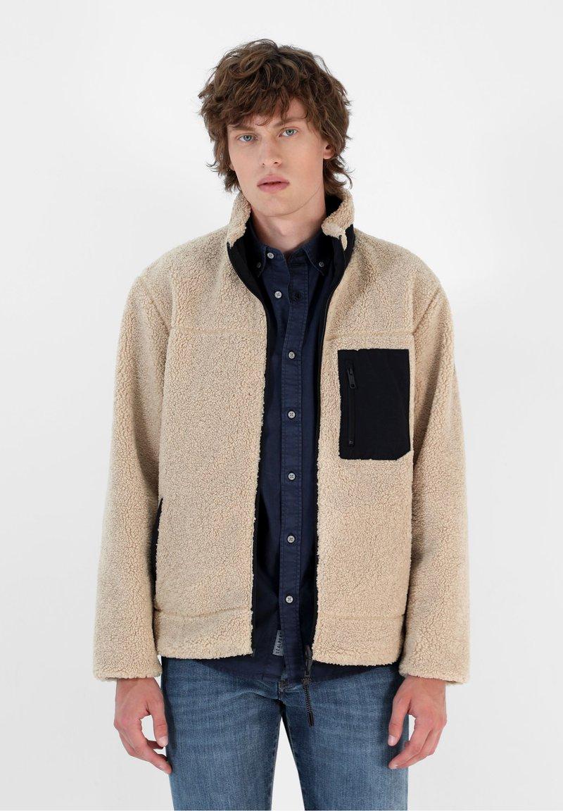 Scalpers - REVERSIBLE - Fleece jacket - beige