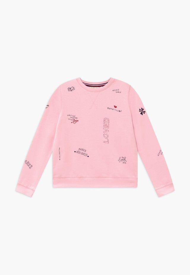 ROUND NECK - Collegepaita - parfait pink