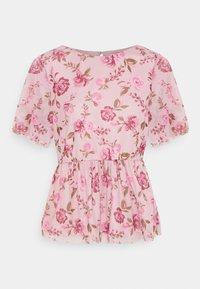 Vila - VIMIRANDA - Print T-shirt - cream pink/rose - 4