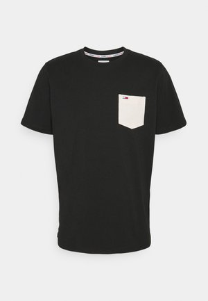 CONTRAST POCKET TEE - T-shirt con stampa - black