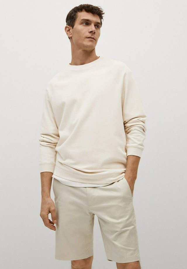 Sweatshirt - open beige