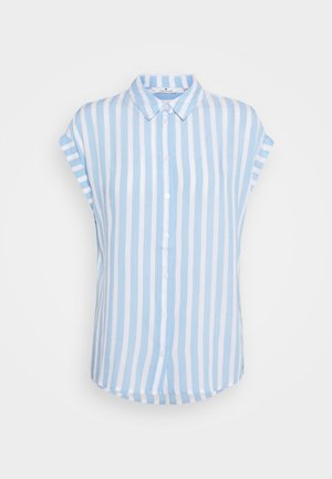 Button-down blouse - blue/off-white
