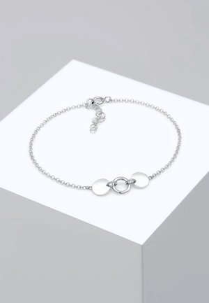 ERBSKETTE KREIS PLÄTTCHEN - Bracelet - silver-coloured