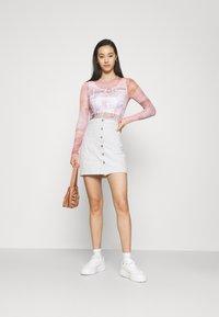 ONLY - ONLRUBY LIFE PANEL - Mini skirt - ecru - 1