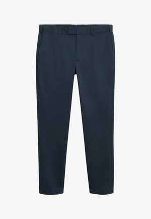SLIM FIT-HOSE AUS TECHNISCHEM GEWEBE - Trousers - marineblau
