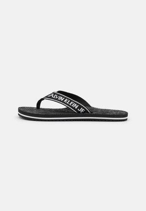 BEACH INSTITUTIONAL  - T-bar sandals - black