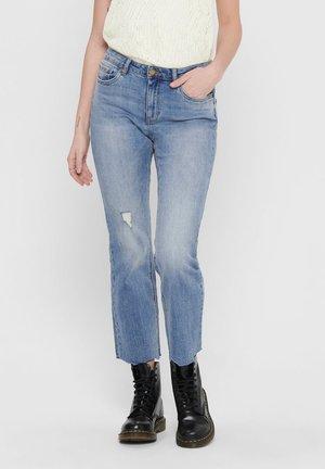 ONLY FLARED JEANS ONLKENYA MID SWEET CROPPED - Flared Jeans - light blue denim