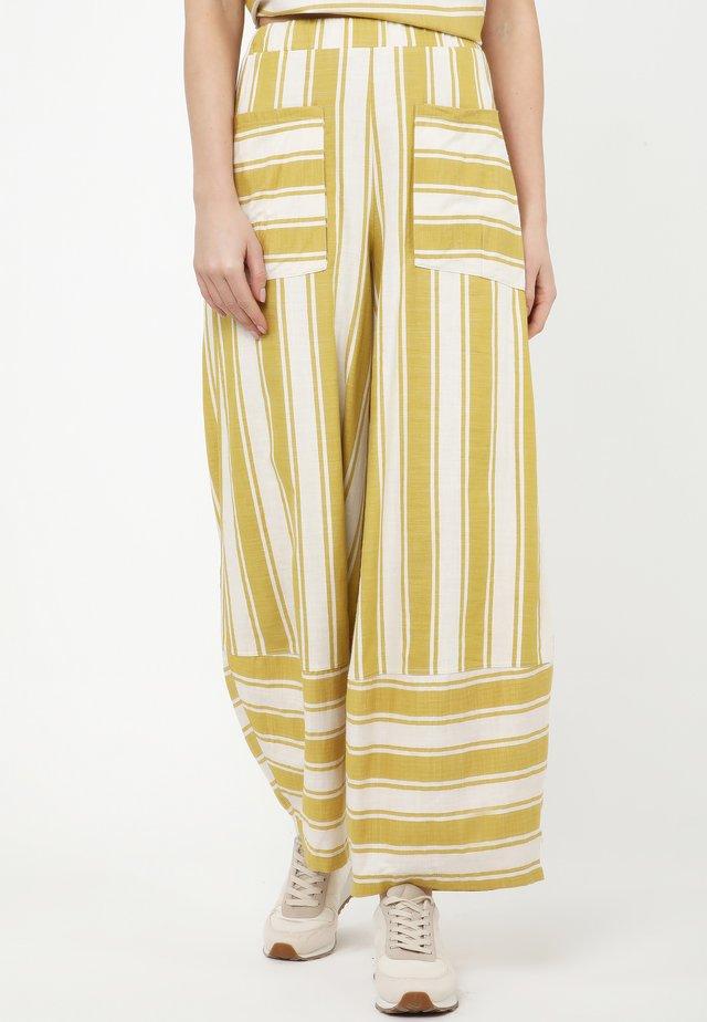 CABULA - Pantalon classique - olive/ white