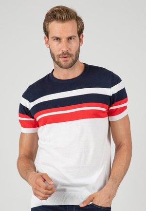 T-shirt med print - white\navy