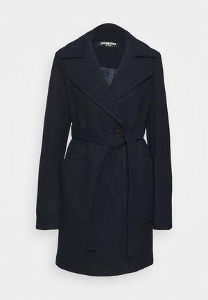 BOXER - Klasický kabát - navy