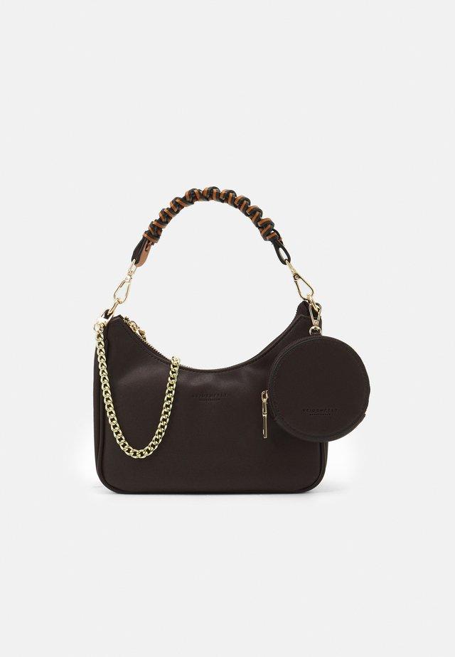 FANO SET - Handbag - dark camel