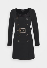 Forever New - BROOKLYN BUCKLE BLAZER DRESS - Shirt dress - black - 0