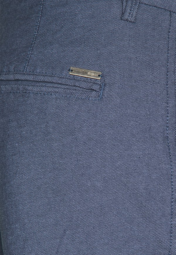Bruun & Stengade POMPEI SLIM - Chinosy - blue/niebieski Odzież Męska HVJM