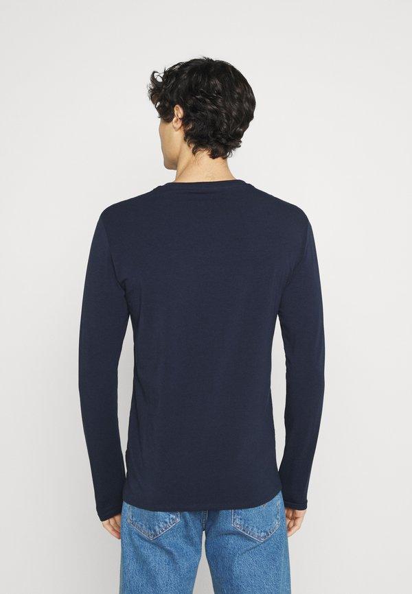 Guess CORE TEE - Bluzka z długim rękawem - blue navy/granatowy Odzież Męska HCNW