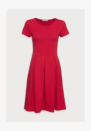 BASIC MINI DRESS - Trikoomekko - red