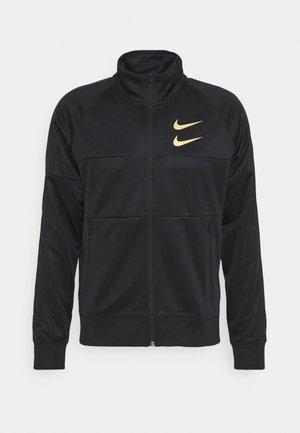 Training jacket - black/gold foil