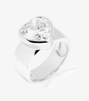 Ring - silber (weiss)
