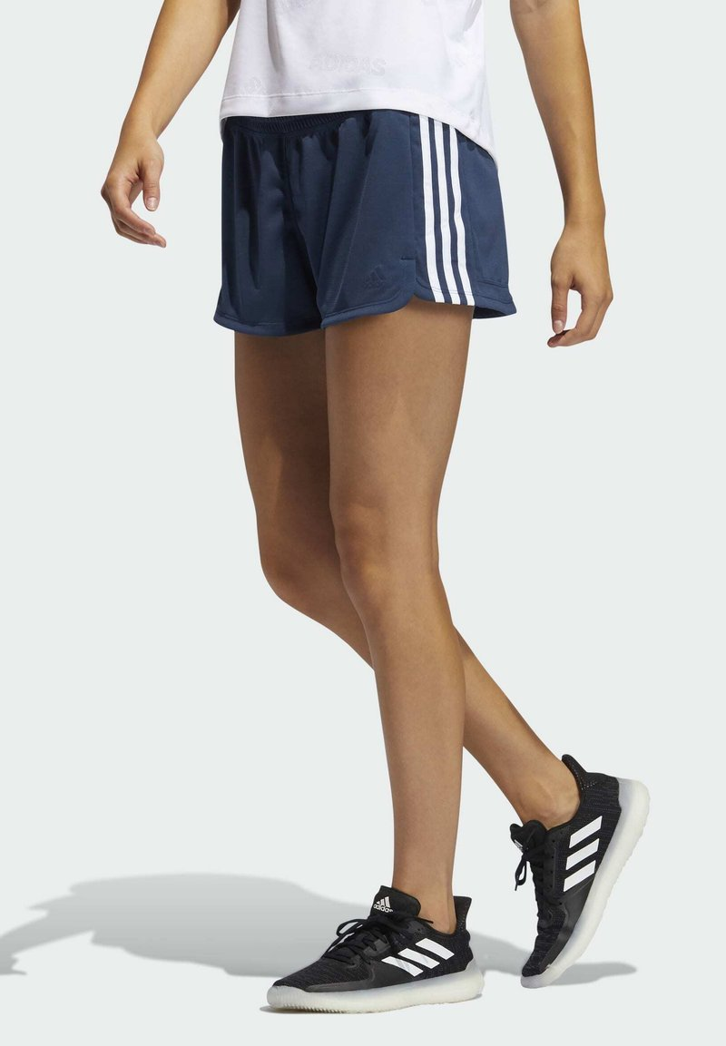 adidas Performance - PACER 3 STRIPES KNIT CLIMALITE SHORTS - Sports shorts - blue
